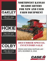 Colby Ag Center 2018 December Inventory Sale Booklet - CaseIH, John Deere & Kubota equipment - tractors, combines, sprayers, planters